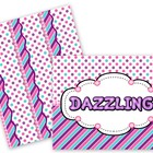 Dazzling Purple Dots & Stripes Bulletin Board Set