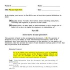 DBQ Template - Based on New York State Regents Exam