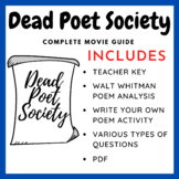 Dead Poets Society (Movie Guide, Poem, & Task)