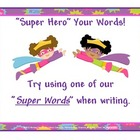 Dead/Boring Words: Super Hero Your Words ( Theme  Girls)