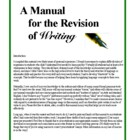 Dealing with Writing II. Revision Manual