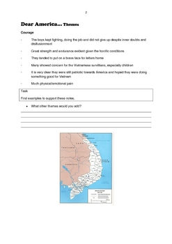 Dear America- Writing topics and themes worksheets