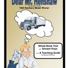 Dear Mr. Henshaw  Whole Book Test