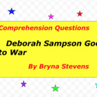 Deborah Sampson Goes to War