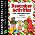 December Activities from Teaching Resources