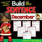 December Build the Sentence! {20 print and go printables!}