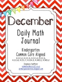 December Daily Math Journal (Common Core Aligned)