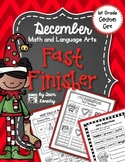 December Fast Finisher - Math and Language Arts
