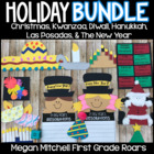 December Holidays-Christmas, Hanukkah, Kwanzaa, Las Posada