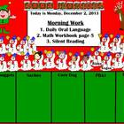 December Interactive Attendance and Lunch Count Flipchart