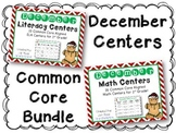 December  Literacy & Math Centers Menu BUNDLE {CCS Aligned