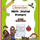 December Math Journal Prompts {Tickets}
