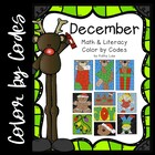December Math & Literacy Color by Codes