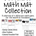 December Math Mat Collection:  ASSORTED FIVE PACK