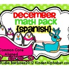 December Math Pack- Spanish