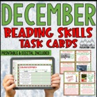 December Reading Skills and Enrichment Task Cards *Aligned