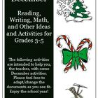 December Reading, Writing, Math, Holiday and Christmas Activities