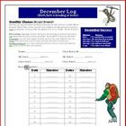 December Reading and Math Log: Theme is Mount Everest
