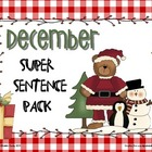 December Super Sentence Pack