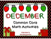 December Themed Math Centers