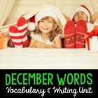 December Word Cards and Word Walls {in English and Spanish}