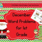 December Word Problems for 1st Grade
