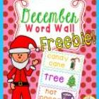 December Word Wall {Freebie!}