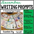 December Writing Pages for Class Share Time