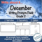 December Writing Prompts Pack 2 Narrative, 2 Expository, 2