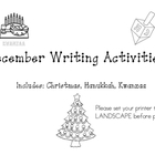 December Writing Worksheets: Christmas, Hanukkah, Kwanzaa