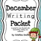 December Writing- helping students with handwriting and wr