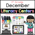 December literacy center menu