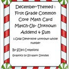 December-theme: First Grade Math Common Core Missing Adden
