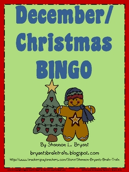 December/Christmas BINGO Game