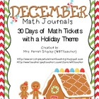 December/Holiday Math Journals
