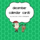 Decemeber Calendar Cards with Monthly Topper