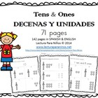 Decenas y unidades:  Tens & Ones PLACE VALUE SPANISH & ENGLISH