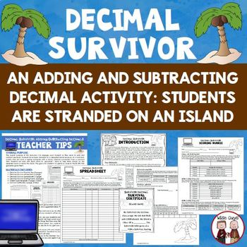 Decimal Activity: Dum-Dum Island Survivor Game (3-pages)