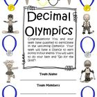FREE Decimal Olympics Math Games and Activities (Common Core)