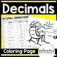 Decimal Operations Coloring Worksheet