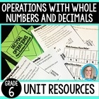 Decimal Operations Unit Resources