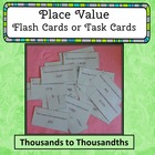Decimal Place Value Flash Cards