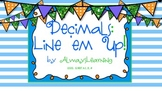 Decimal Place Value Lineup - Activity to Compare, Order, a