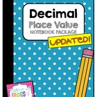 Decimal Place Value Notebook Package