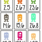 Decimal Review Flash Cards