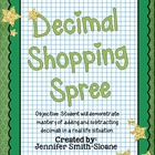 Decimal Shopping Spree Foldable Mini Book Activity