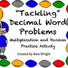 Decimal Word Problems Practice Activity