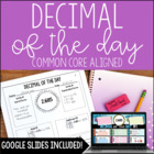 Decimal of the Day Common Core Aligned 5th Grade