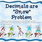 Decimals are Snow Fun Task Cards