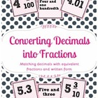 Decimals to Fractions Sort